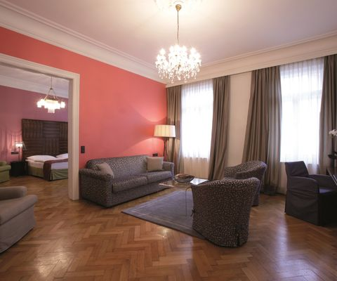 Wohnraum - Grande Suite im Appartement-Hotel an der Riemergasse