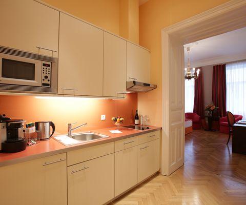 Küche - Studio Superior im Appartement-Hotel an der Riemergasse