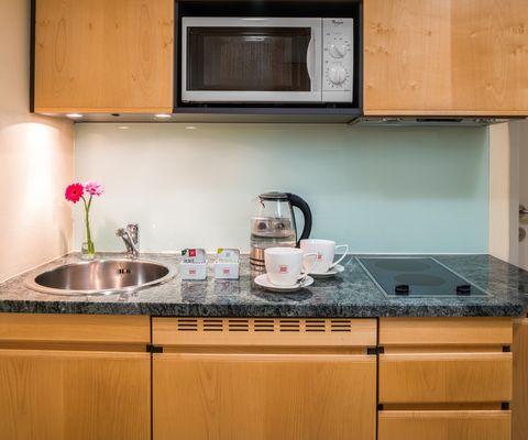 Küche - Studio im Appartement-Hotel an der Riemergasse