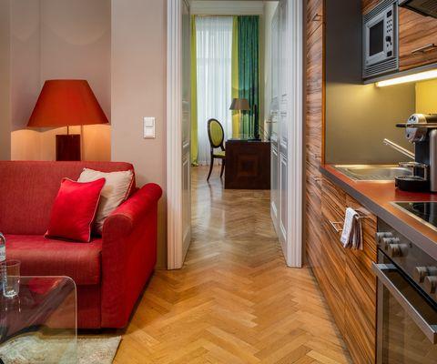 Küche Comfort Suite im Appartement-Hotel an der Riemergasse