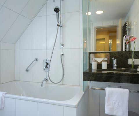 Badezimmer - Studio im Appartement-Hotel an der Riemergasse