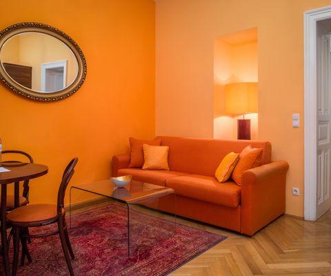 Wohnraum Comfort Suite im Appartement-Hotel an der Riemergasse