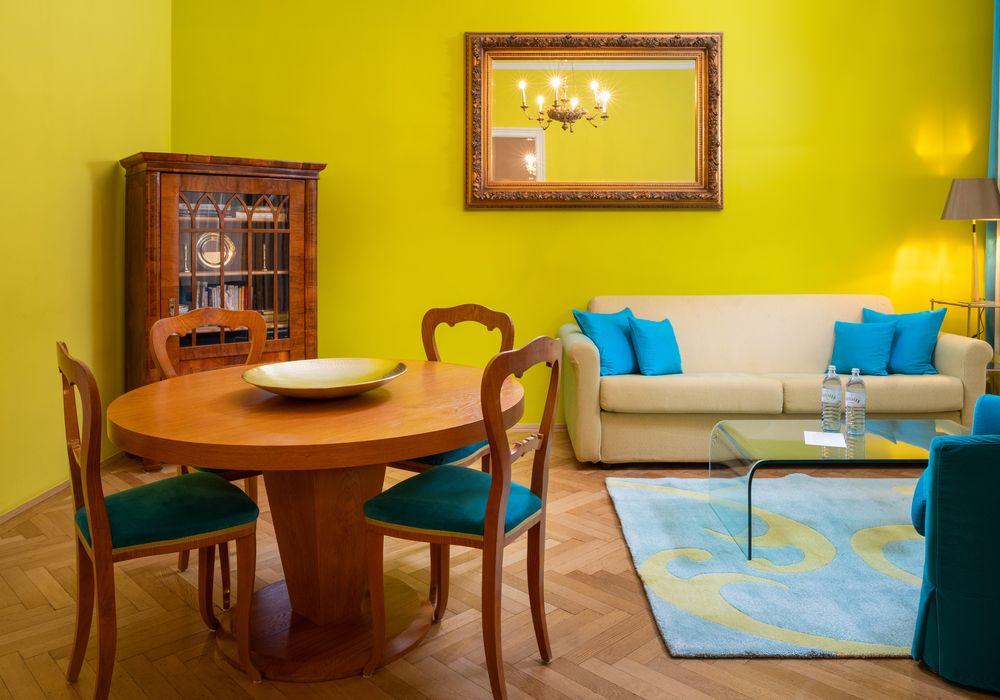 Wohnraum - Deluxe Suite im Appartement-Hotel an der Riemergasse